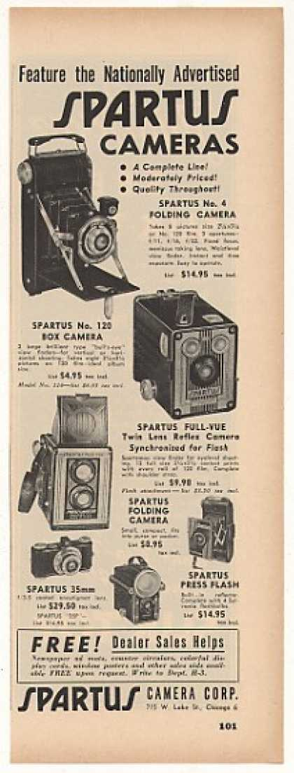 Spartus Folding Box Full-Vue Camera (1949)
