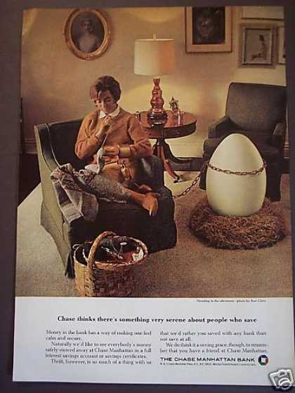 Woman With Nest Egg Photo Chase Manhattan Bank (1967)