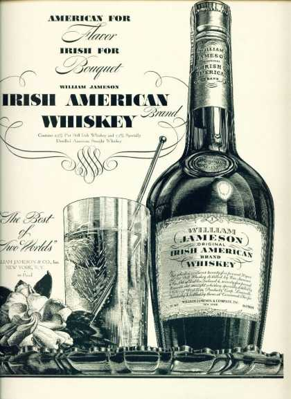 William Jameson Irish American Whiskey C (1940)