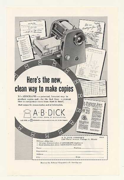 A.B. Dick Azograph Duplicator Machine (1955)