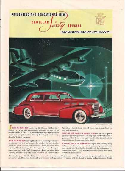Cadillac Sixty Special Red Car (1938)