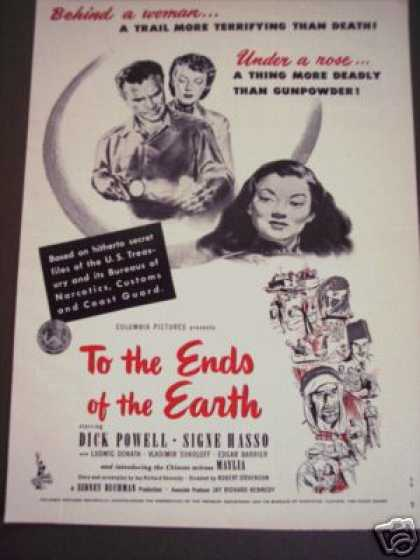 To the Ends of the Earth Movie Promo (1947)