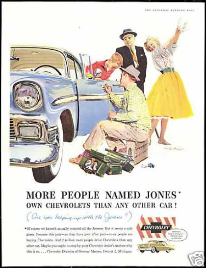 Chevrolet Bel Air Car Vintage Print Jones (1956)