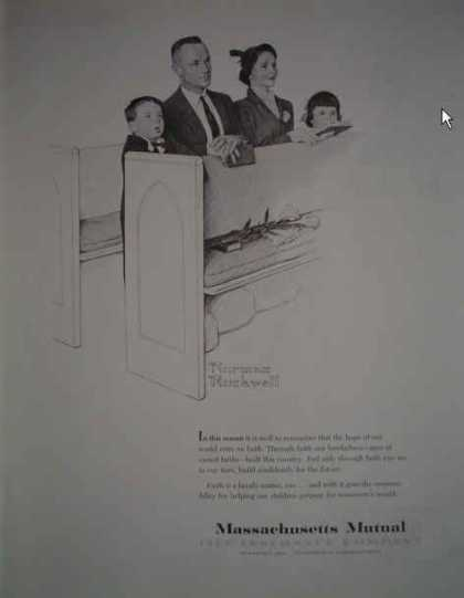 Massachusetts Mutual Life Insurance Rockwell Art (1959)
