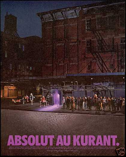 Absolut Au Kurant Night Club Bar Bottle (1996)