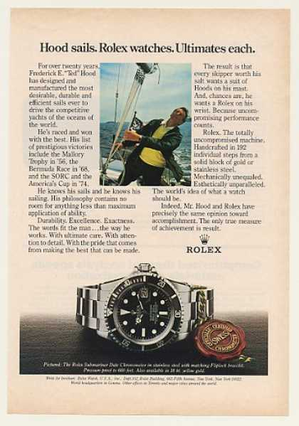 "Frederick E ""Ted"" Hood Rolex Submariner Watch (1980)"
