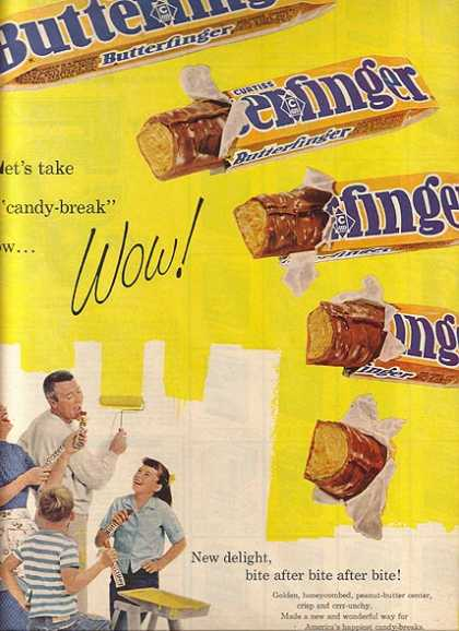 "Butterfinger's ""Let's take a 'candy-break' now... (1961)"