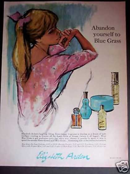 Blue Grass Perfume Powder Nice Art (1965)