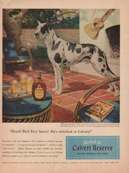Burl Ives Switched To Calvert Reserve (1949)