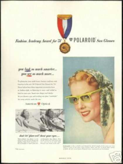 Fashionable Polaroid Sunglasses Pretty Woman (1951)