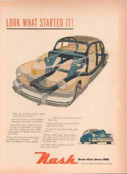 NASH 600 Car – All Welded Construction View (1948)