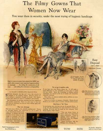 Kotex Company's Sanitary Napkins – The Filmy Gowns That Women Wear (1927)