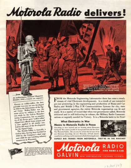 Galvin Manufacturing Corporation – Motorola Radio Delivers (1943)