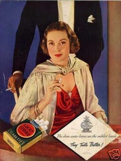 Lucky Strike Cigarettes Color (1934)