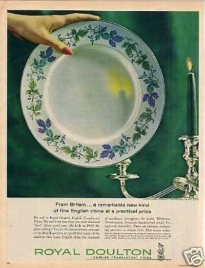 Royal Doulton China Ad English Translucent (1962)