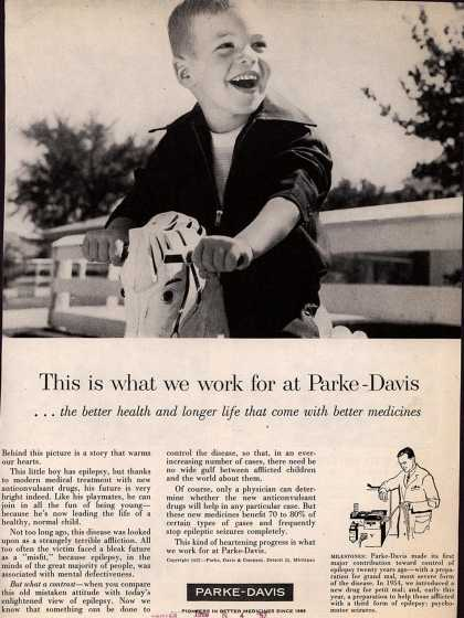 Parke, Davis & Company's Epilepsy treatment drugs – This is what we work for at Parke-Davis (1957)