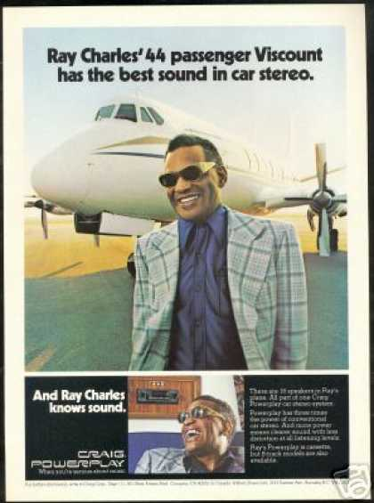 Ray Charles Viscount Airplane Craig Car Stereo (1976)