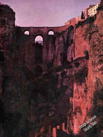 Magazine Photo Great Gorge Ronda Andalusia Spain (1967)