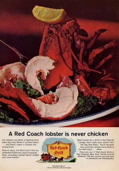 Red Coach Grill Lobster Dish (1965)