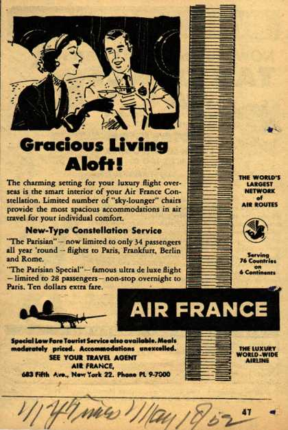 Air France's The Parisian – Gracious Living Aloft (1952)
