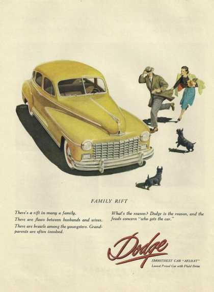 Family Rift Yellow Dodge Car (1948)