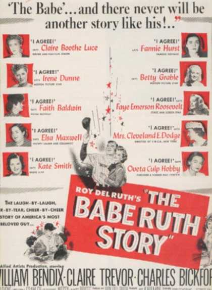 The Babe Ruth Story (William Bendix) (1948)