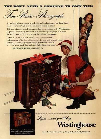 Westinghouse Electric Corporation's Radio-Phonograph – You Don't Need a Fortune to Own This Fine Radio-Phonograph (1947)