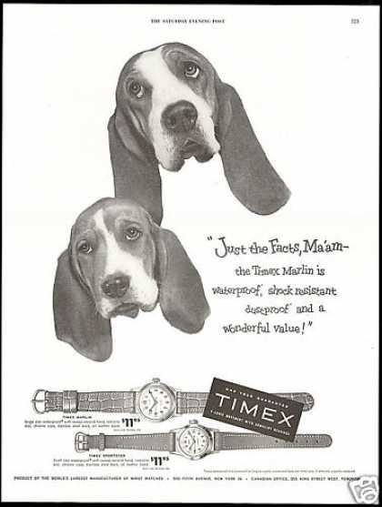 Timex Sportster Marlin Watch Basset Hound Dog (1954)