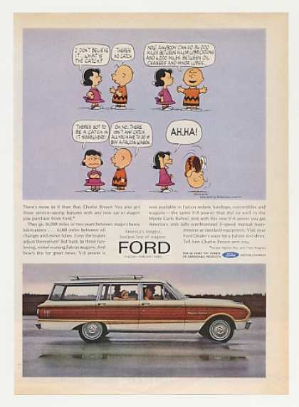 Ford Falcon Squire Wagon Charlie Brown Lucy (1963)
