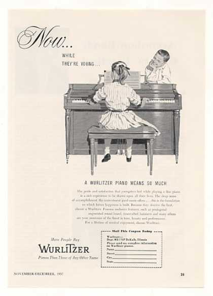 Wurlitzer Piano Means So Much to Kids (1957)