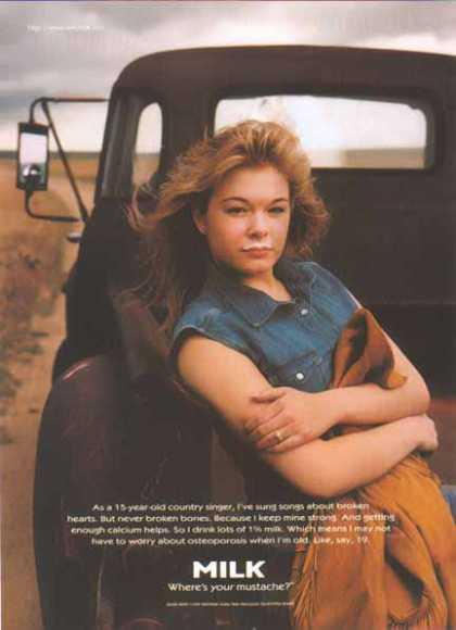 Leann Rimes &#8211; GOT MILK? (1997)