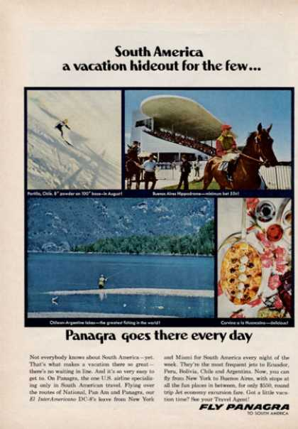 Panagra South America Airline Travel Hippodrome (1966)