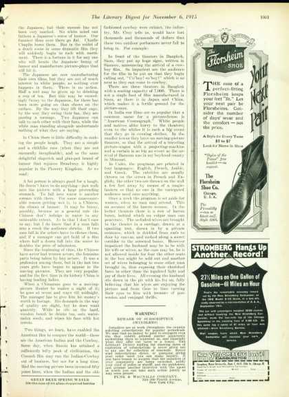 The Florsheim Shoe the Picadilly Style 1/4 Page (1915)