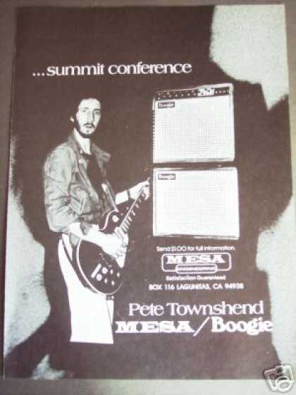 Pete Townshend Photo Mesa Boogie Amp (1978)
