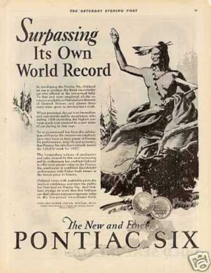 "Pontiac Six Ad ""Surpassing Its Own... (1927)"