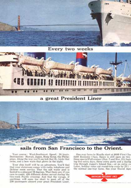 American President Orient Cruise Golden Gate (1964)