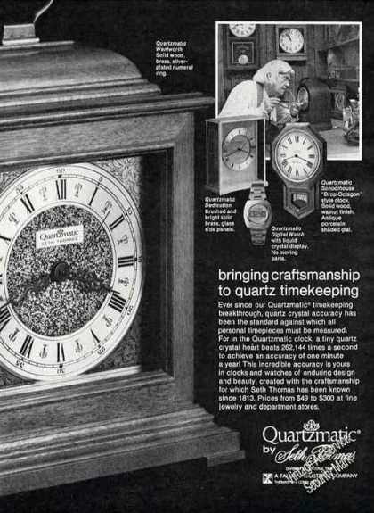 Quartzmatic By Seth Thomas Clock (1974)