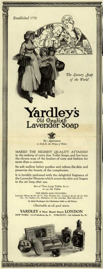 Yardley & Co., Ltd.'s Old English Lavender Soap – Yardley's Old English Lavender Soap (1925)
