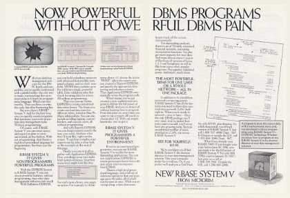 Microrim R:BASE System V Powerful DBMS (1986)