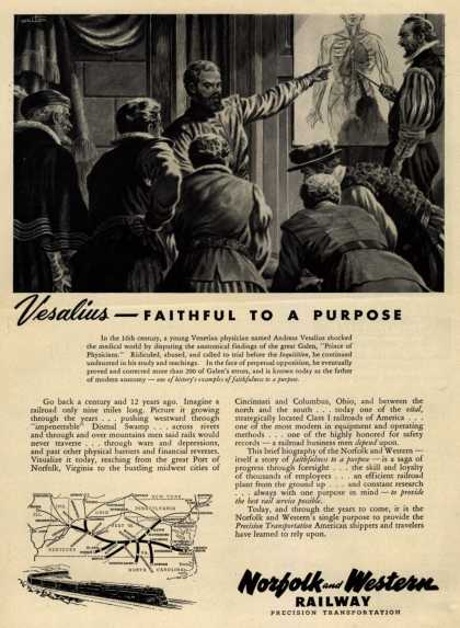 Norfolk and Western Railway Precision Transportation's Norfolk and Western – Vesalius – Faithful to a Purpose (1950)