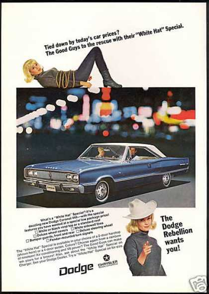 Dodge Coronet 440 Blue White Car Photo (1967)