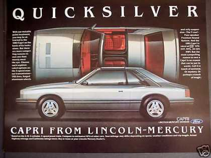 Mercury Capri Quicksilver Metalic T-roof Car (1981)