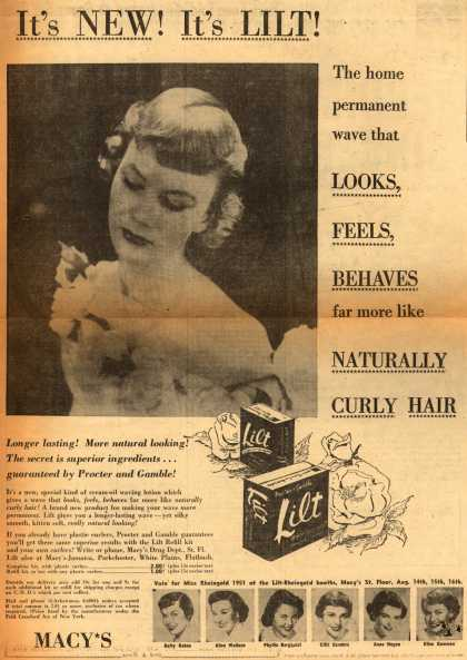 Procter & Gamble Co.'s Lilt Home Permanent – It's New! It's Lilt (1950)