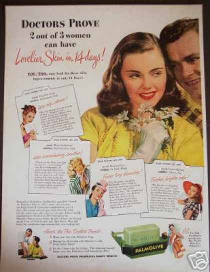 Doctor Proven Polmolive Beauty Soap Retro Art (1947)