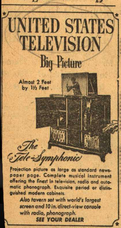 United States Television's The Tele-Symphonic Television – United States Television Big Picture
