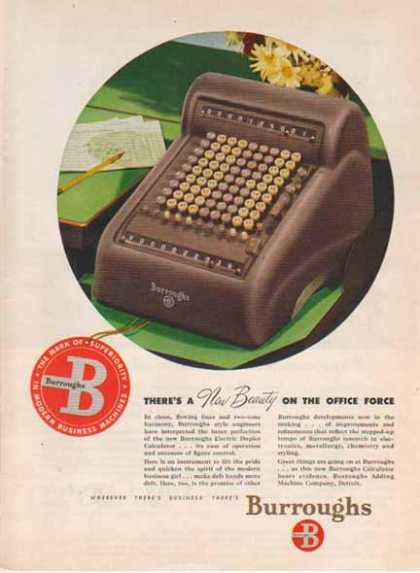 Burroughs Calculator – Cubical Decor (1947)