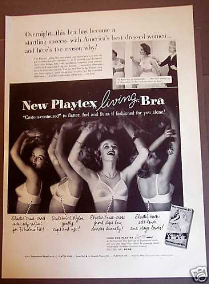 "Playtex Living Bra ""Custom-contour (1954)"