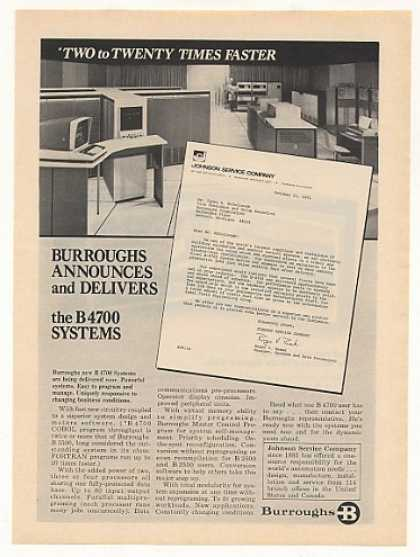 Burroughs B4700 B 4700 Computer System (1971)