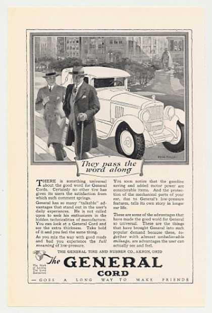 General Cord Tires Men Pass Word Fred Mizen art (1926)