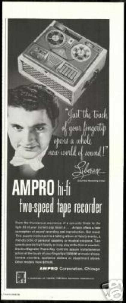 Liberace Photo Ampro Hi Fi Tape Recorder (1954)